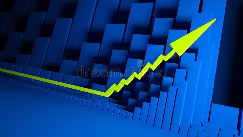 Gráficos de negócio e indicadores dos estrangeiros imagem de stock