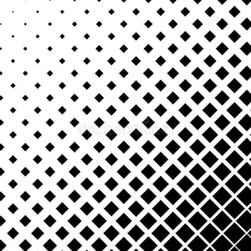 Gráficos de semitono con los cuadrados, elemento abstracto monocromático libre illustration