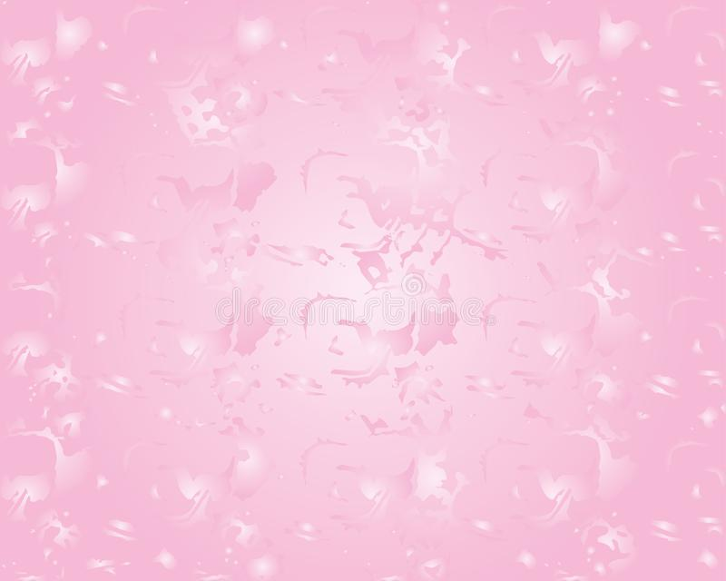 Gráficos de vector de un fondo rosado con la iluminación central Color rosado inusual con la iluminación central ilustración del vector
