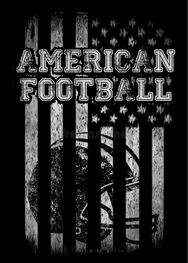 Gráficos de vetor dos gráficos da camisa do time do colégio t do futebol americano e t ilustração do vetor