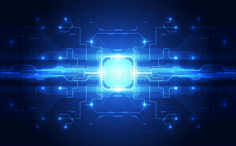 Gráficos de vetor fundo da tecnologia da velocidade de processador da microplaqueta Ilustração do vetor ilustração do vetor