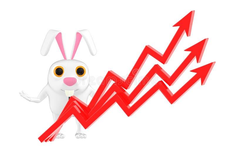 gráficos del carácter 3d, del conejo y de la flecha libre illustration