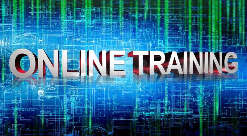 Gráficos del entrenamiento en línea stock de ilustración