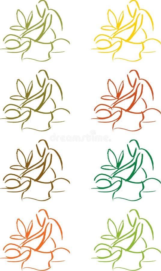 Gráficos del masaje ilustración del vector