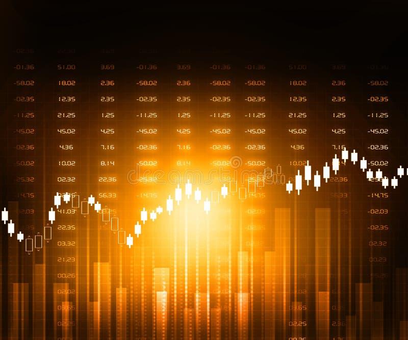 Gráficos del mercado de acción stock de ilustración