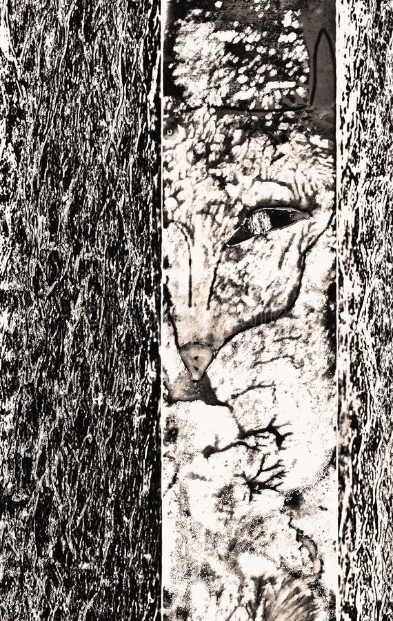 Gráficos del ` s del autor: animal extraño en el Fox del bosque, quizá ilustración del vector
