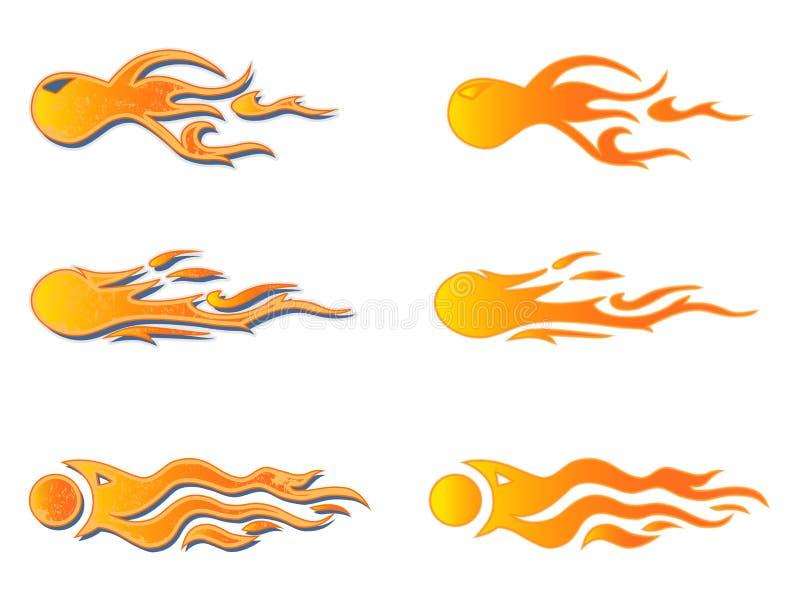 Gráficos del vehículo, raya: Rod Racing Flame caliente, etiqueta del coche de la pintada, vinilo listo libre illustration