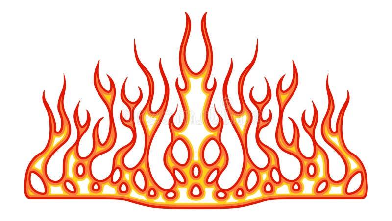 Gráficos del vehículo, raya: Rod Racing Flame caliente, etiqueta del coche de la pintada, vinilo listo en la capilla de un coche, libre illustration