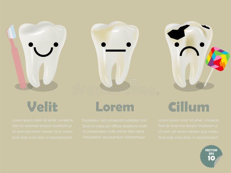 Gráficos dentais da informação da saúde ilustração do vetor