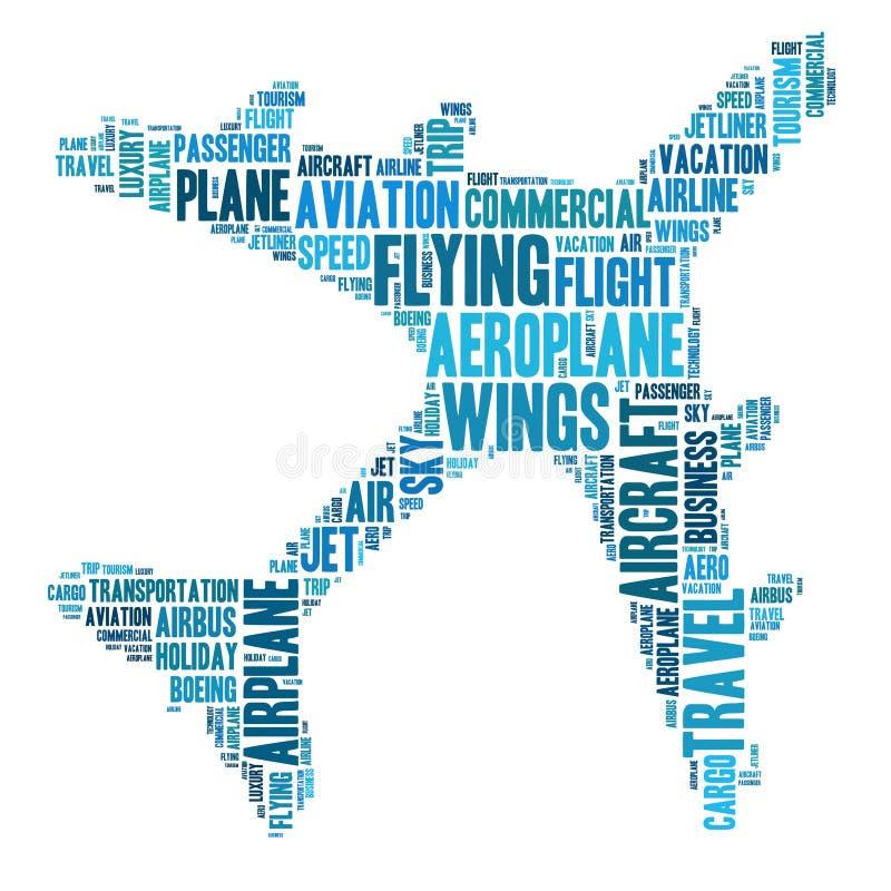 Gráficos do avião ilustração stock