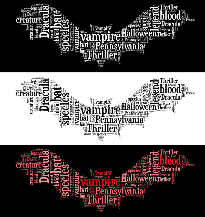 Gráficos do bastão do vampiro ilustração do vetor