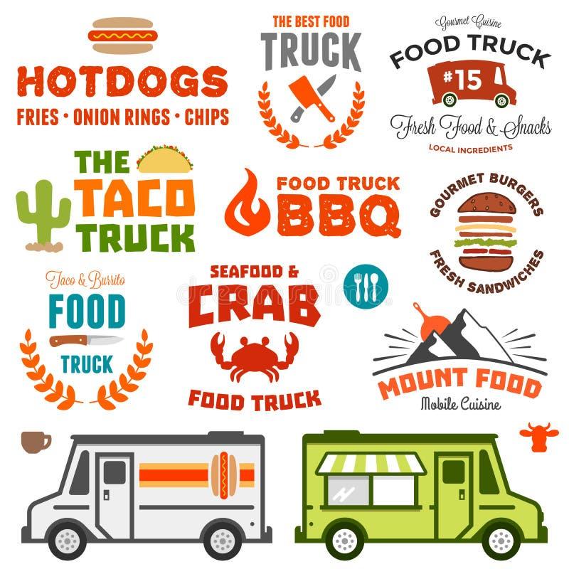 Gráficos do caminhão do alimento ilustração royalty free