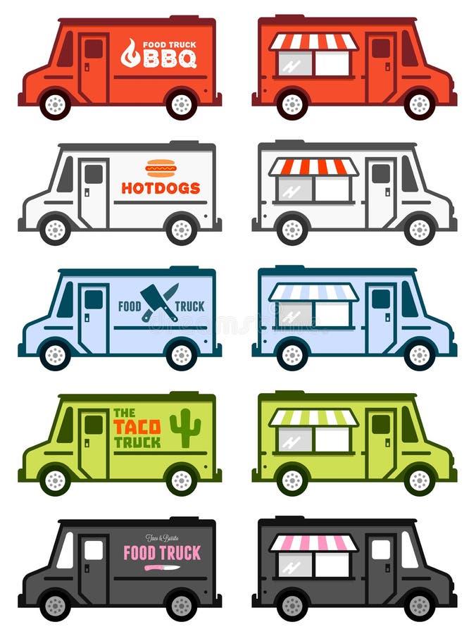 Gráficos do caminhão do alimento ilustração stock