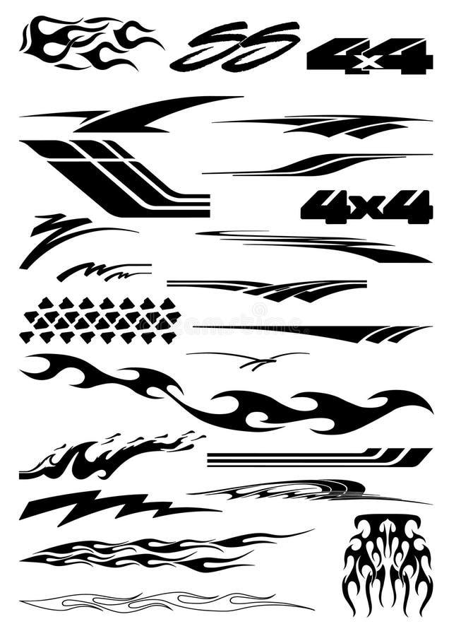 Gráficos do carro no formato do vetor ilustração do vetor