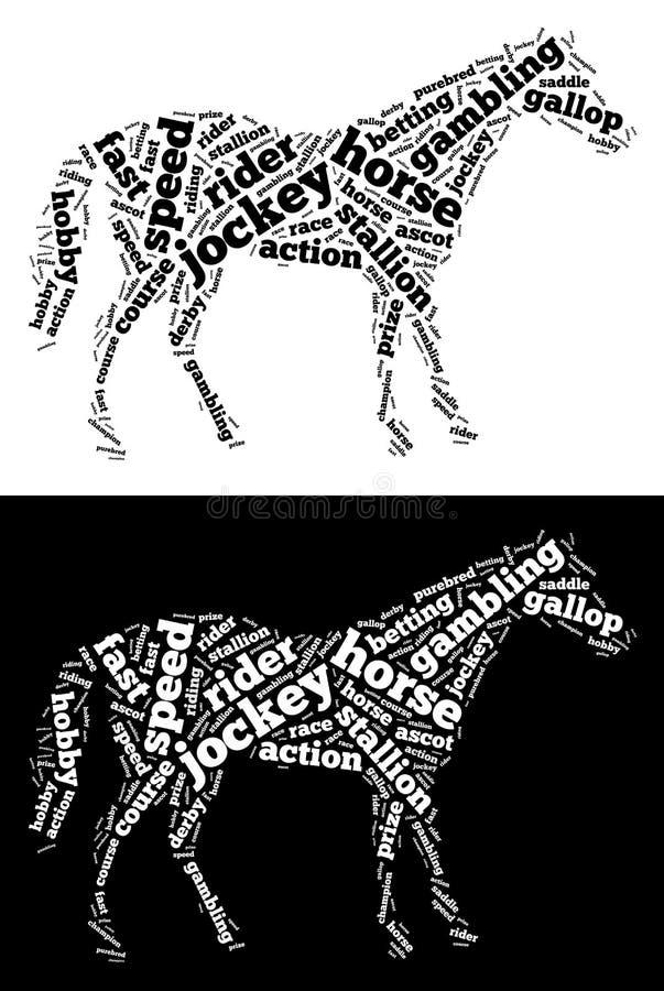 Gráficos do cavalo de raça ilustração royalty free