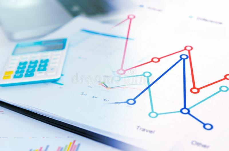Gráficos do conceito do negócio imagem de stock royalty free