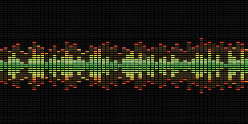 Gráficos do equalizador da música fotos de stock