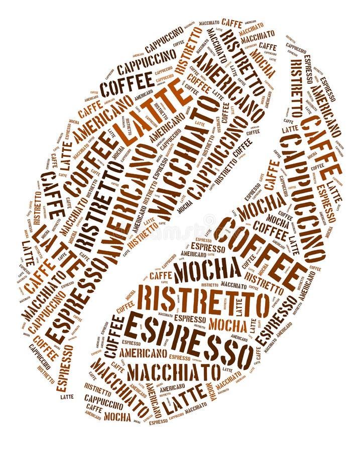 Gráficos do feijão de café ilustração stock