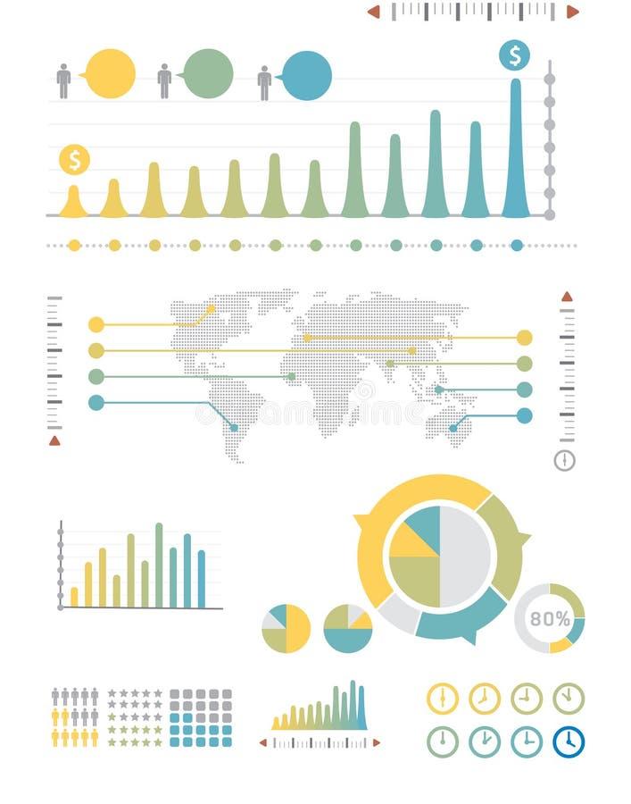 Gráficos do grupo e da informação de Infographics ilustração stock