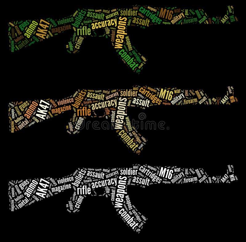 Gráficos do rifle de AK47 ilustração royalty free