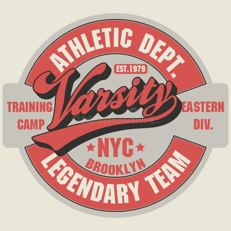 Gráficos do t-shirt de Brooklyn ilustração stock