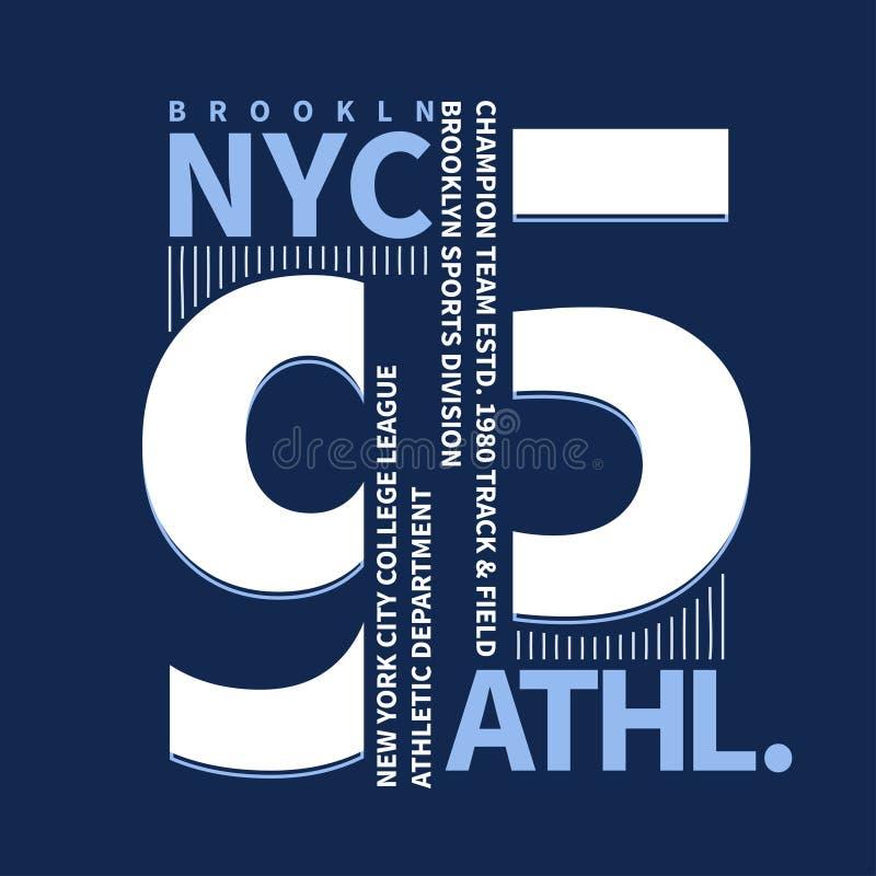 Gráficos do t-shirt de Brooklyn ilustração royalty free