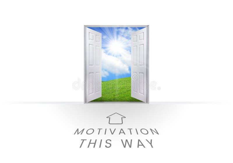 Gráficos do texto da motivação ilustração royalty free