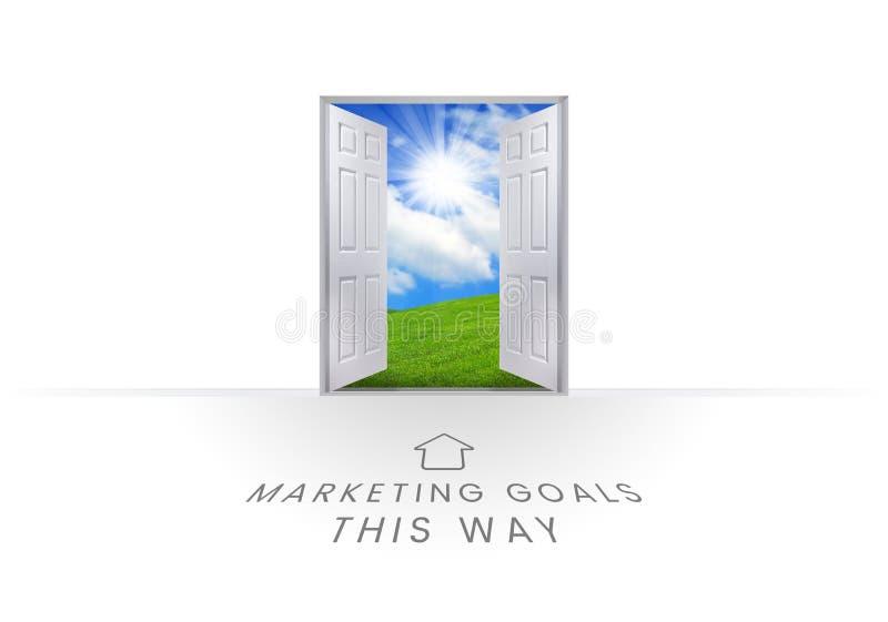 Gráficos do texto dos objetivos do mercado ilustração royalty free