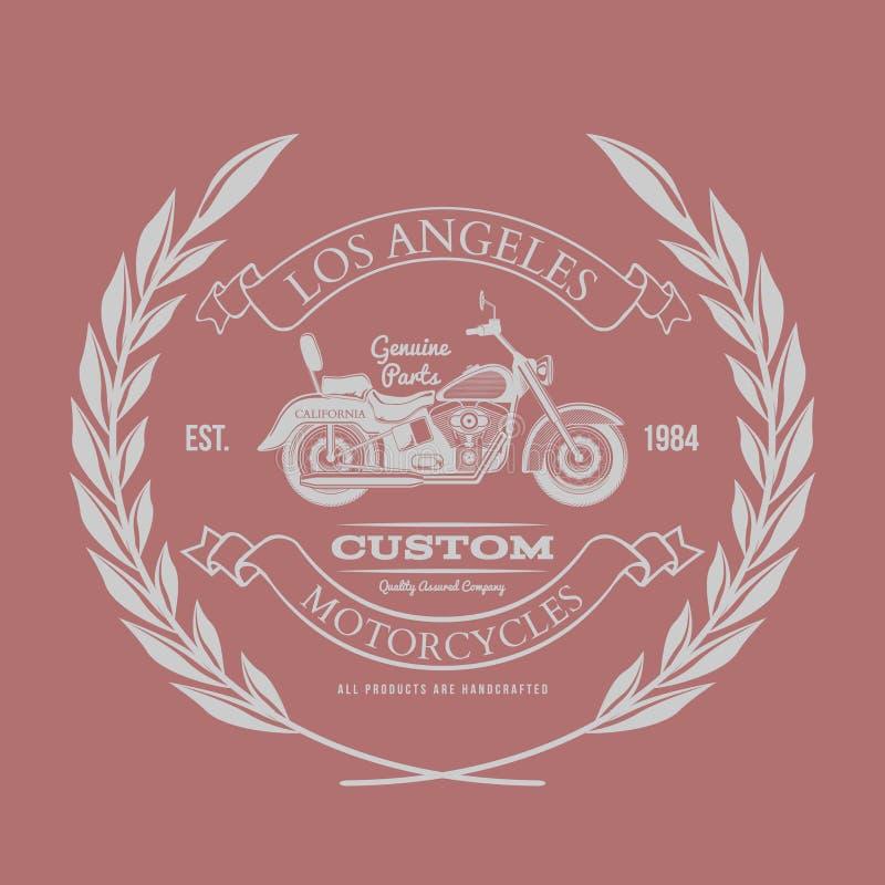 Gráficos do vintage da motocicleta, tipografia do t-shirt, vetor do vintage ilustração do vetor