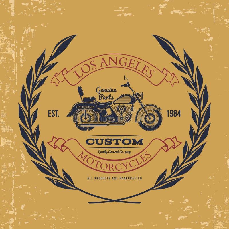 Gráficos do vintage da motocicleta, tipografia do t-shirt, vintage Vetor ilustração do vetor