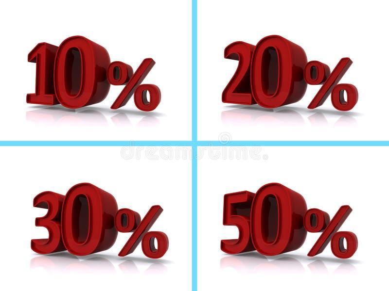 Gráficos dos por cento ilustração royalty free