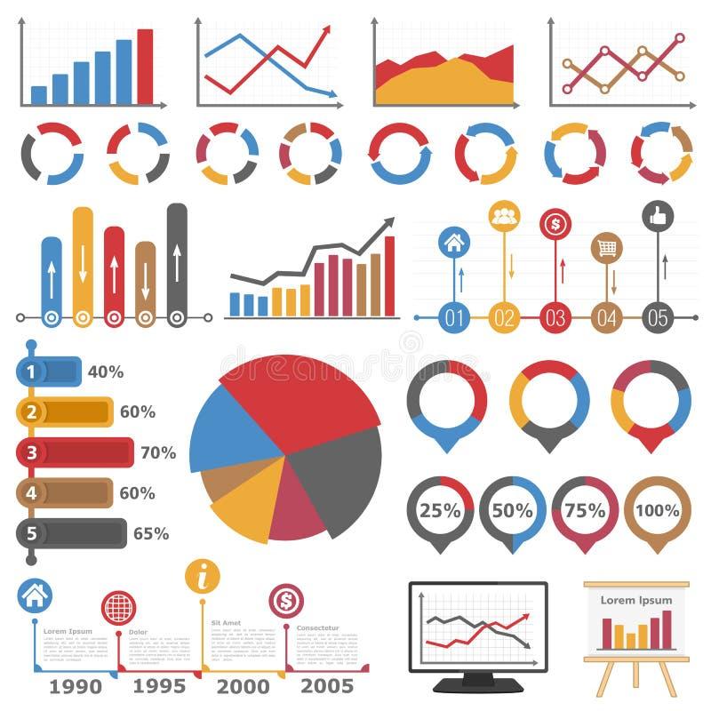 Gráficos e diagramas ilustração royalty free