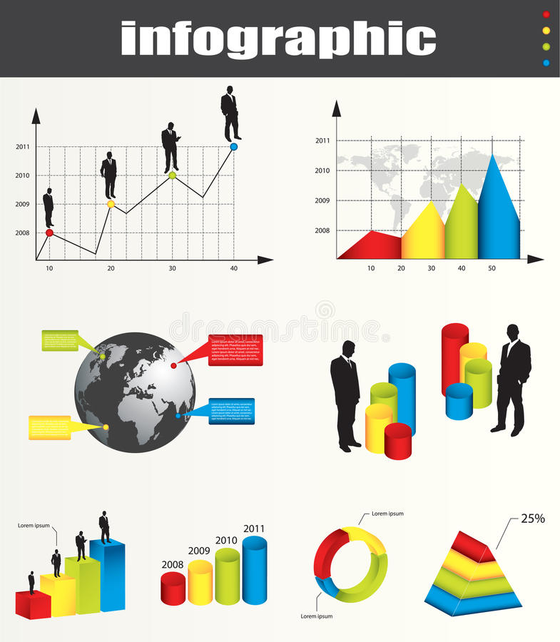 Gráficos e elementos de Infographic ilustração royalty free
