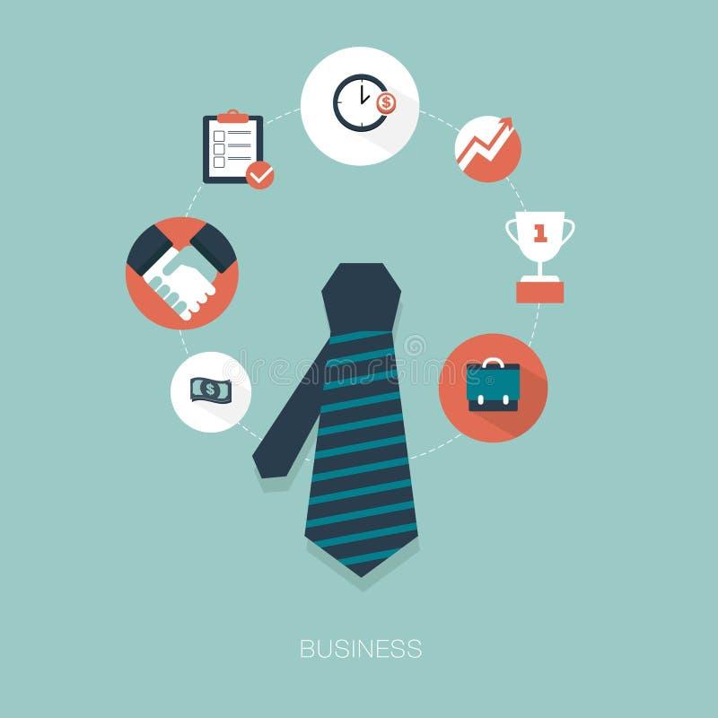 Gráficos e iconos de negocio ilustración del vector