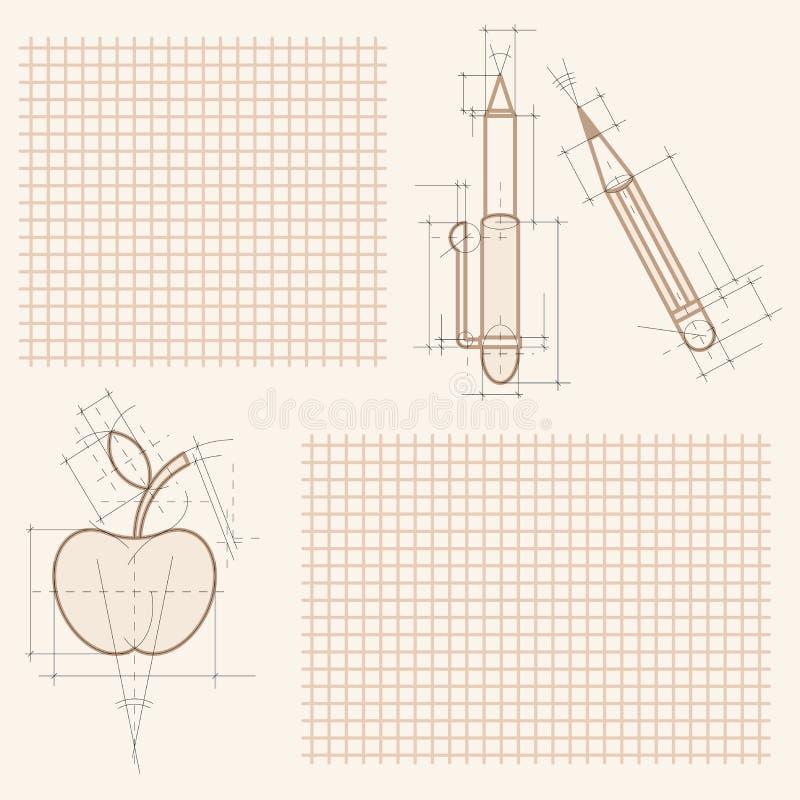 Gráficos en la hoja del cuaderno libre illustration