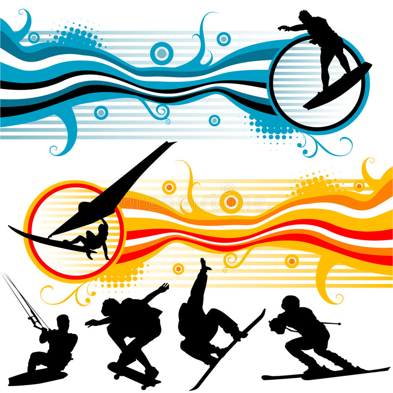 Gráficos extremos del deporte ilustración del vector