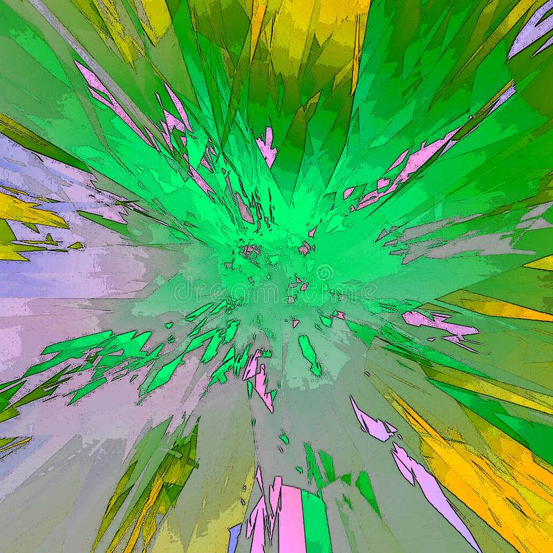 Gráficos - flash Hyperspace, espacio ilustración del vector