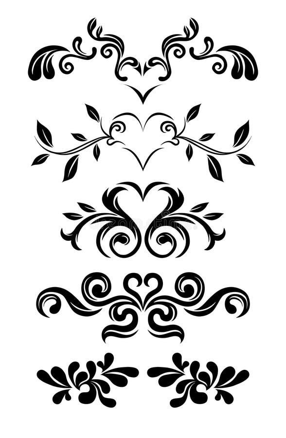 Gráficos florales de la vendimia ilustración del vector