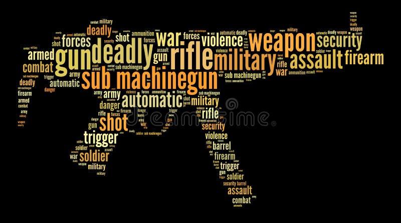 Gráficos Machine-gun submarino ilustração stock