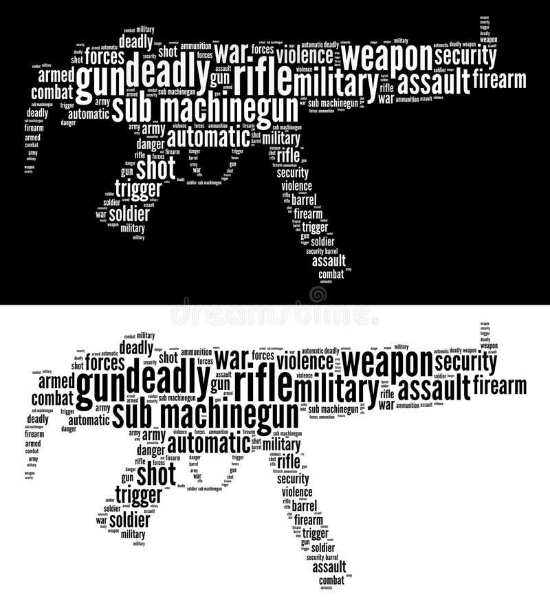 Gráficos Machine-gun submarino ilustração do vetor