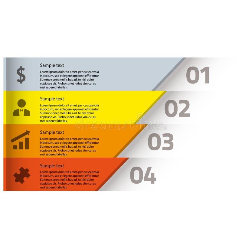 Gráficos modernos da informação do diagrama do negócio foto de stock