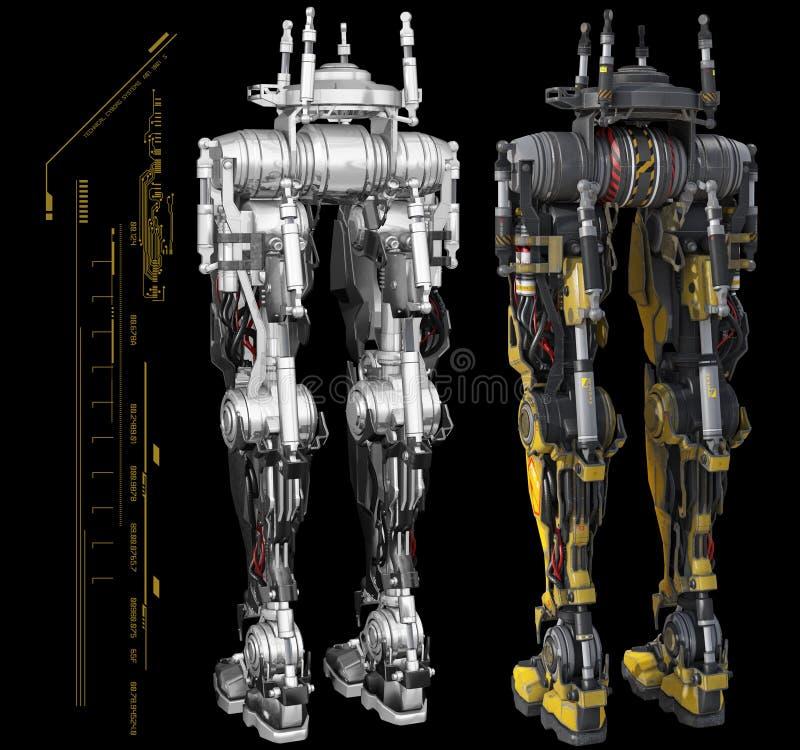 Gráficos robóticos do torso ilustração royalty free