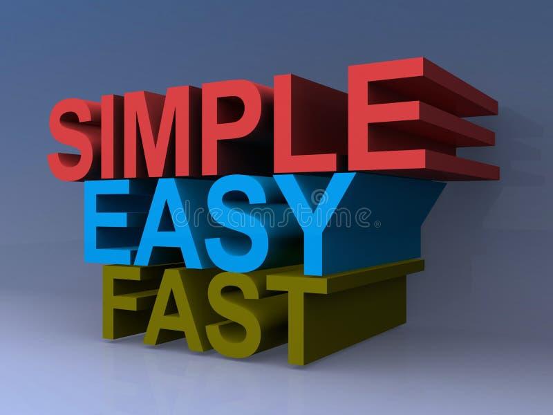 Gráficos simples, fáceis, rápidos ilustração stock