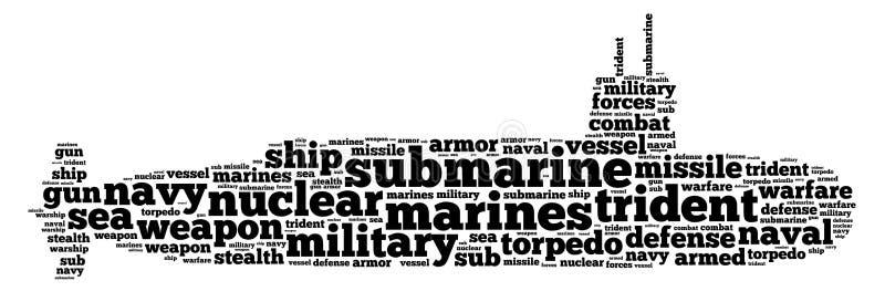 Gráficos submarinos ilustração do vetor