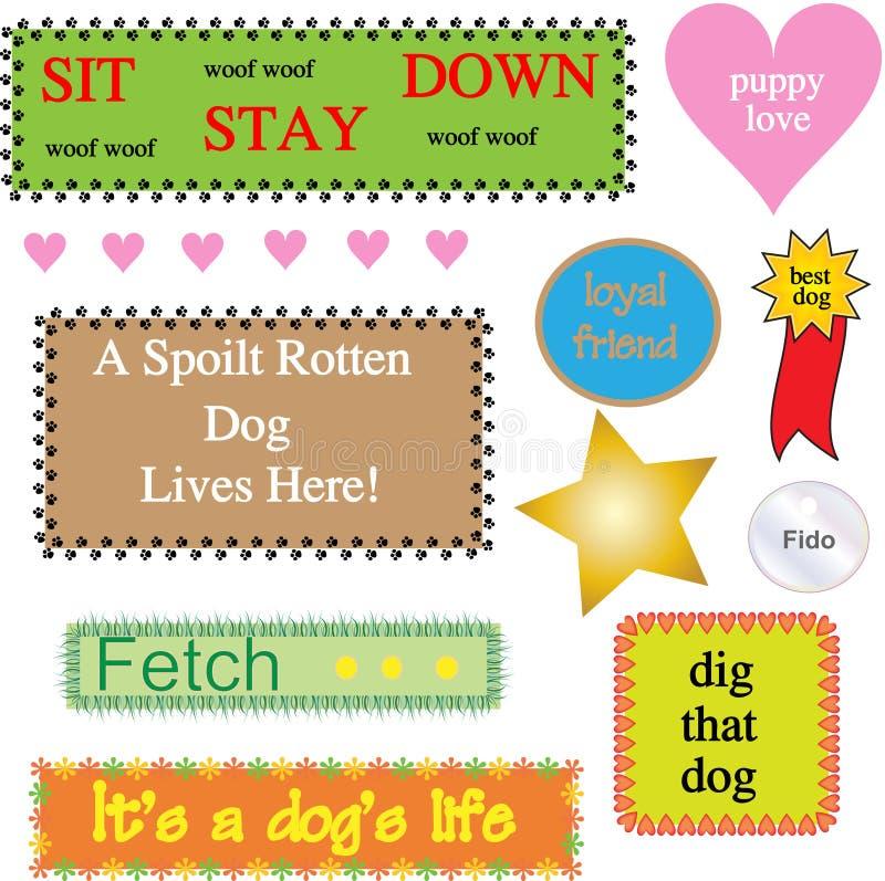 Gráficos temáticos/iconos del perro ilustración del vector