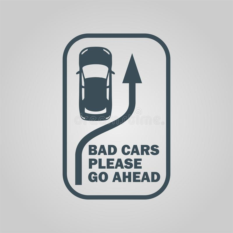 Gráficos, vinilos y etiquetas del vehículo del coche ilustración del vector