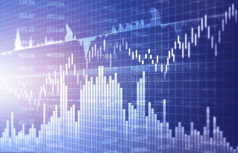Gráficos y carta financieros del mercado de acción fotos de archivo
