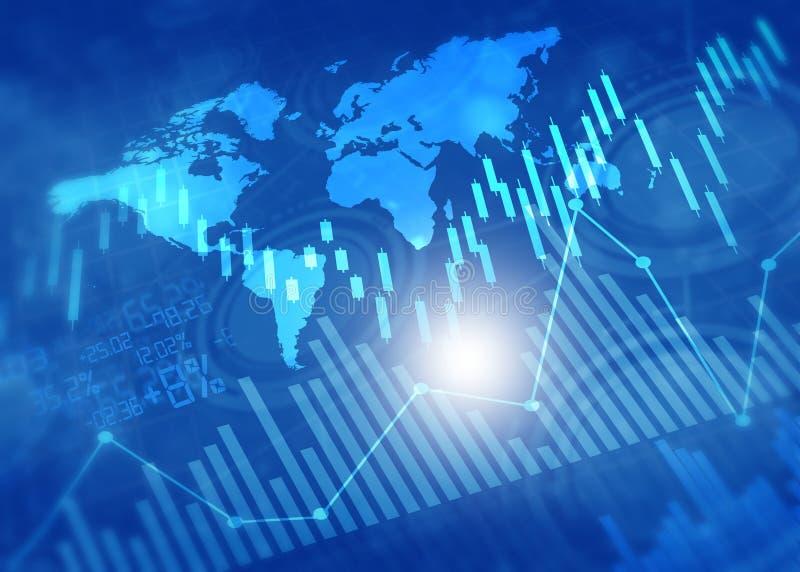 Gráficos y carta financieros del mercado de acción imágenes de archivo libres de regalías