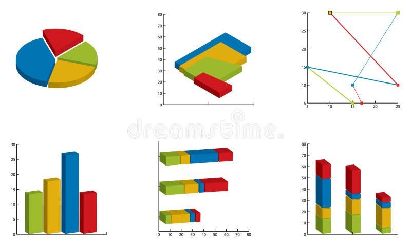 Gráficos y cartas ilustración del vector