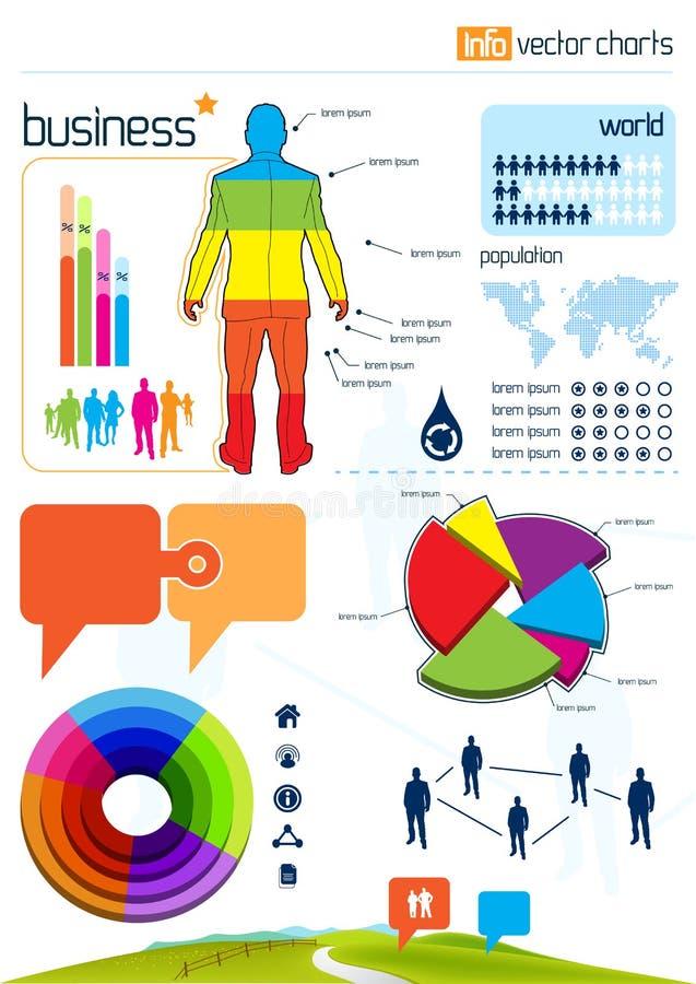 Gráficos y elementos del vector de Infographic ilustración del vector